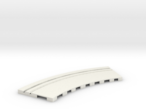 P-65stp-curve-tram-road-outer-145r-75-pl-1a in White Strong & Flexible