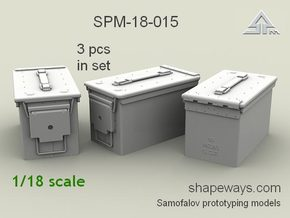 1/18 SPM-18-015 cal.50 ammobox in Frosted Extreme Detail