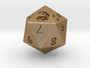 D20 Mountain in Matte Gold Steel