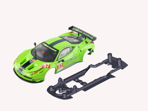 S08-ST4 Ferrari 458 GT2 Chassis SSD/STD in Black Strong & Flexible