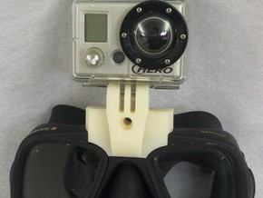 GoPro Goggle Mount- Front Piece in Black Strong & Flexible