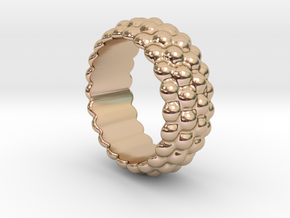 Big Bubble Ring 15 - Italian Size 15 in 14k Rose Gold Plated