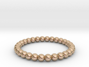 Pearl Ring in 14k Rose Gold Plated