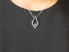 """""""Hidden Heart"""" AIRY, pendant in Polished Silver"""