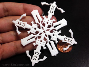 Doctor Who: Fourth Doctor Snowflake in White Strong & Flexible Polished