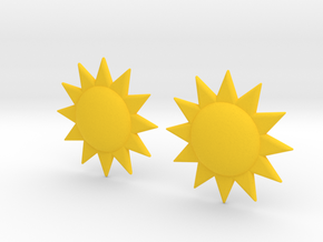 Sun Studs in Yellow Strong & Flexible Polished