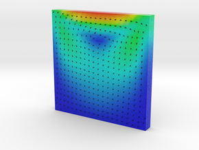Flow Visualization - Lid driven Cavity in Full Color Sandstone
