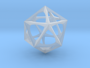 0301 Icosohedron (3.0 cm) in Frosted Ultra Detail