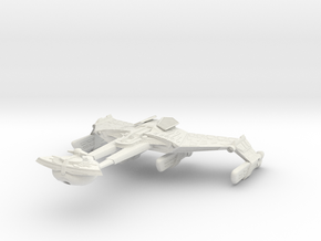 Klingon Battleship II in White Strong & Flexible
