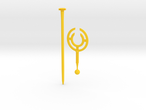 cyclone staff in Yellow Strong & Flexible Polished