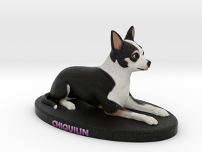 Custom Dog Figurine - Chiquilin in Full Color Sandstone