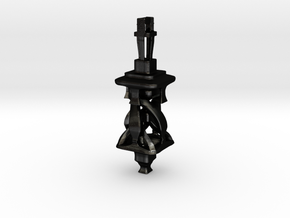 Twisting Tower Pendant in Matte Black Steel