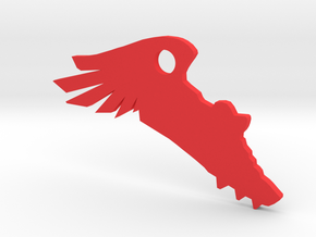 TrackSpike KeyChain in Red Strong & Flexible Polished