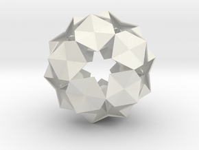 20 Hexagons Ball - 11.2 cm in White Strong & Flexible