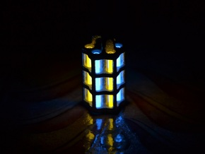 Tritium Lantern 5C (3x25mm Vials) in Polished Nickel Steel