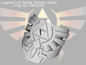 Zelda hylian crest ring (med/adjustable) in Metallic Plastic