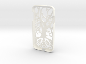 """Samsung Galaxy S4 case """"Tree of life"""" in White Strong & Flexible Polished"""
