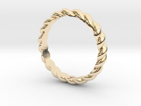 Womans Rope Ring Size 5 in 14K Gold