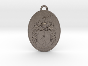 Coat of Arms Pendant Irish Family Crest  in Stainless Steel