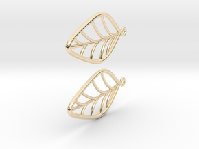 Leaf Earrings in 14k Gold Plated