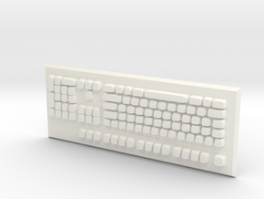 Keyboard in White Strong & Flexible Polished