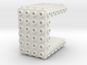 Core Brick 6x6x4 - Beta 01 in White Strong & Flexible