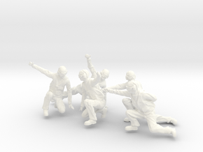 32-H0072: Carrier catapult 2 or 4 crew scale 1:32 in White Strong & Flexible Polished