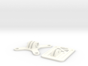 FPV Mount For E-max Nighthawk 250 in White Strong & Flexible Polished