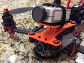 Mobius / Runcam HD / Legend 1 Dynamic FPV Base For in Orange Strong & Flexible Polished