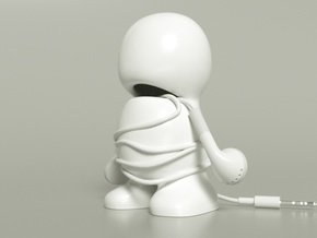 Headphone Buddy in White Strong & Flexible Polished