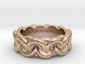 Chain Of Love 33 – Italian Size 33 in 14k Rose Gold Plated