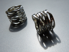 BASHIBA RAW WAVES (16.6 mm) in Stainless Steel