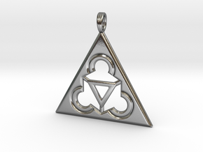 TRINITY RINGS (pendant) in Polished Silver