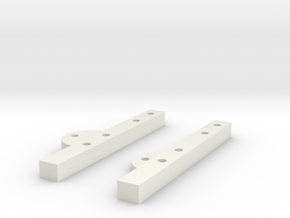 SCX10 Cantilever Mounts in White Strong & Flexible