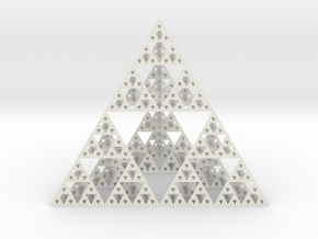 Sierpinski tedrahedron : Cm:10 x / 12 y / 10 z in White Strong & Flexible