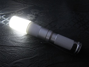 Flashlight Diffuser (flat top) in Transparent Acrylic