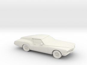 1/87 1971-73 Buick Riviera in White Strong & Flexible