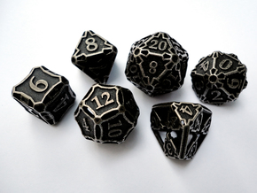 Large Dice Set in Stainless Steel