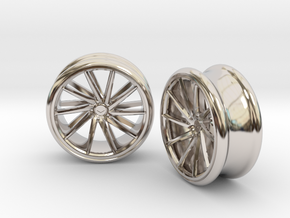 Set Of Vossen CVT Gauge EarRings 20mm InnerD in Rhodium Plated
