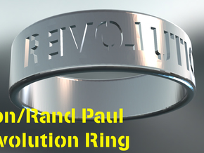 Ron/Rand Paul Revolution Ring in Polished Silver