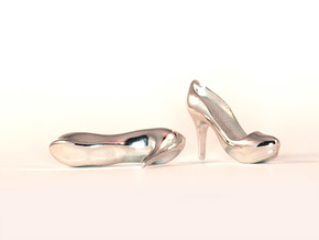 Modern Heels - Style 2 size 2 in Rhodium Plated
