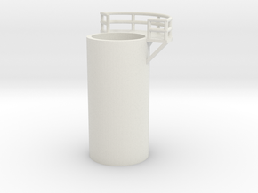'N Scale' - 10' Distillation Tower - Middle - Righ in White Strong & Flexible