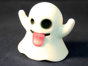 Ghost Emoji Figurine in Full Color Sandstone