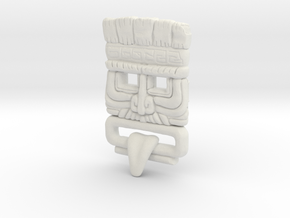 Customised Mayan Mask in White Strong & Flexible