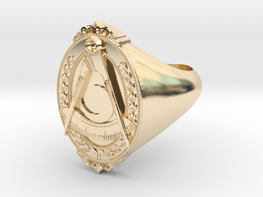 District Deputy Jewel Ring in 14k Gold Plated