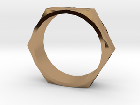 Bolt Ring (Size 13)  in Polished Brass