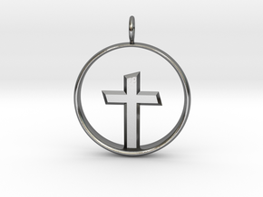 Cross Pendant 3 (Medium) in Polished Silver
