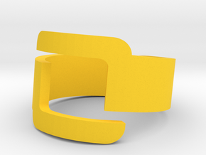Connector Cool Plastic Ring [Size 8] in Yellow Strong & Flexible Polished