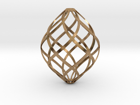 Zonohedron, Large in Raw Brass