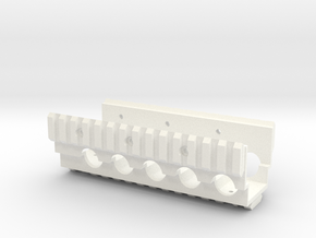 M249 Lower RAS RIS Handrail in White Strong & Flexible Polished